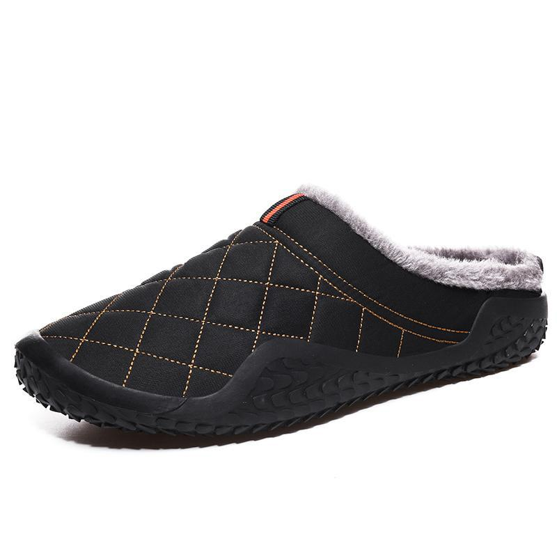 Waterproof Men's Winter Home Slippers Warm Cotton Shoes