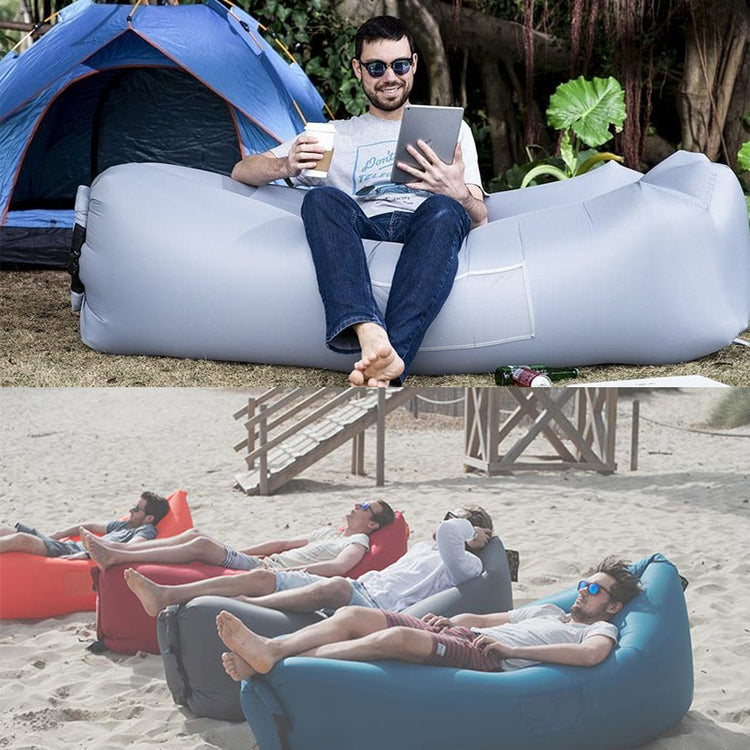 Ultralight Inflatable Lounger Portable Lazy Carry Waterproof Camping Bed