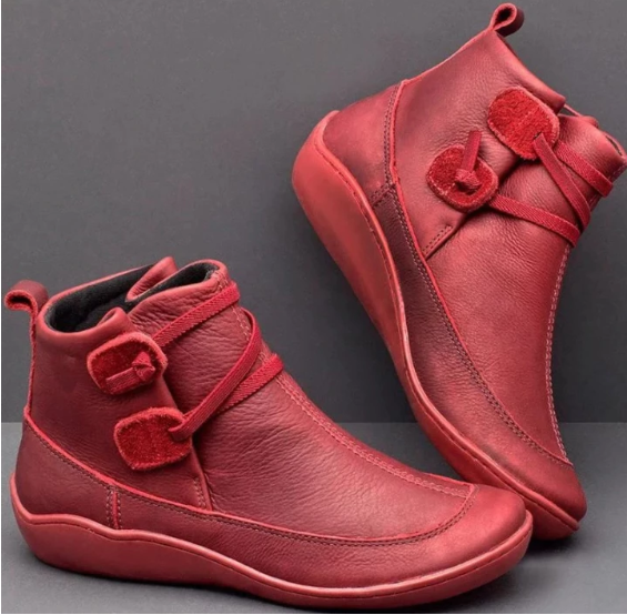 Womens Stitching Slip On Solid Color Slip Resistant Winter Ankle Boots 2020 Shoes