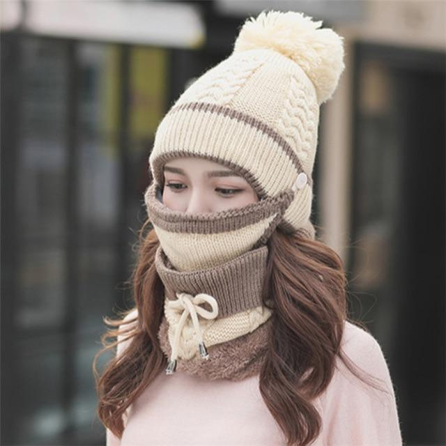 48% OFF 3PCS Womens Winter Scarf Set