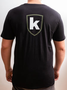 K-Custom T-Shirt - Black-Olive-White