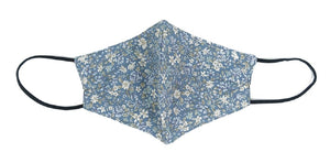 Cotton, Floral on Ocean Blue - MasKeith