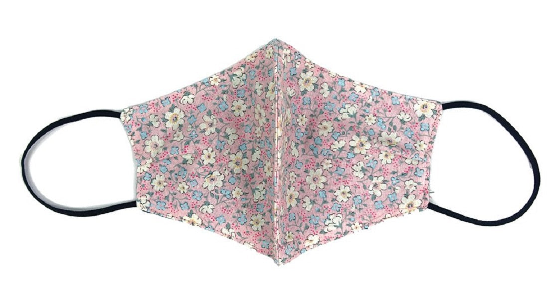 Cotton, Floral on Light Pink - MasKeith