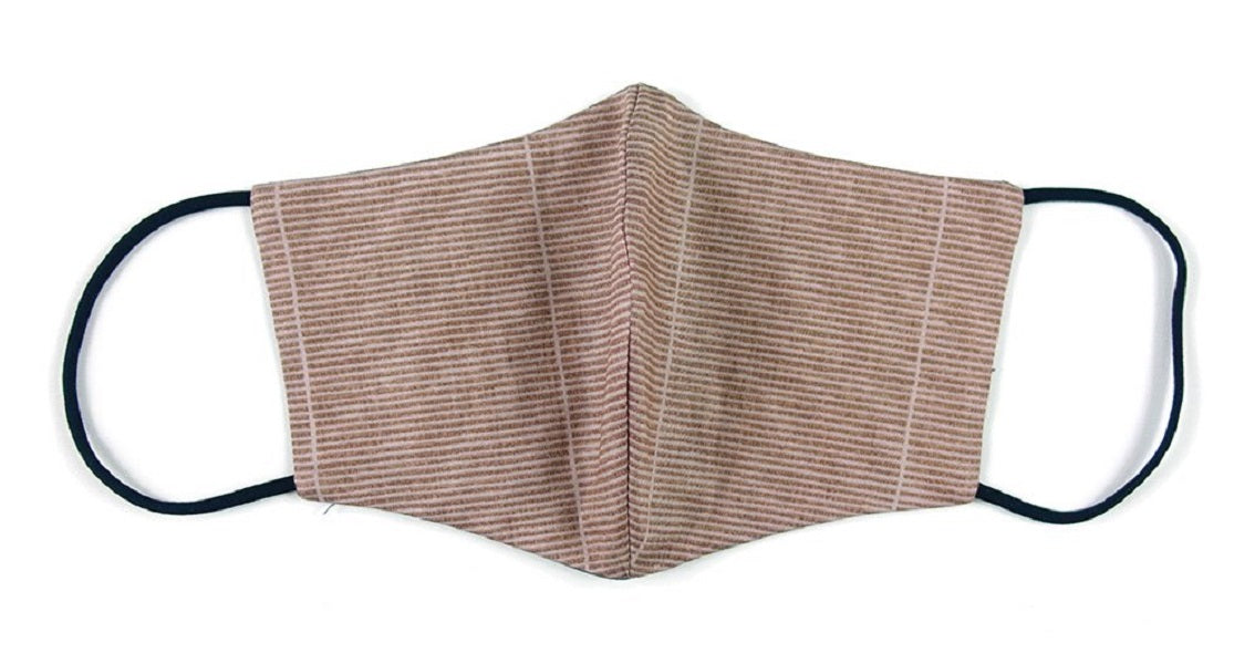 Cotton, Pinstripes, Soft Brown - MasKeith