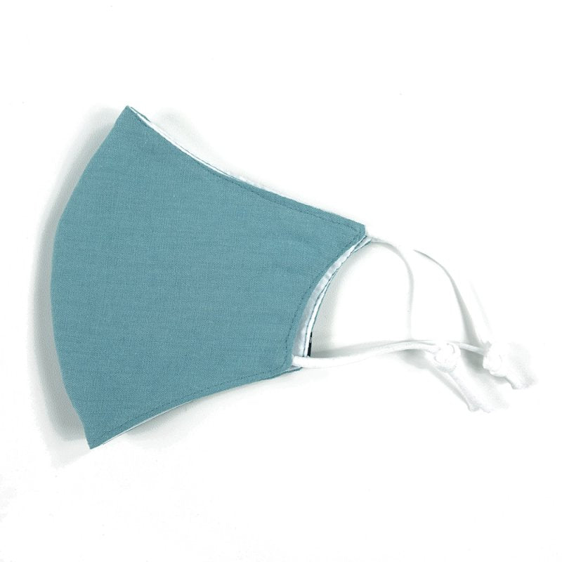 Linen, Non-Woven Filter, Cotton, Light Blue - MasKeith