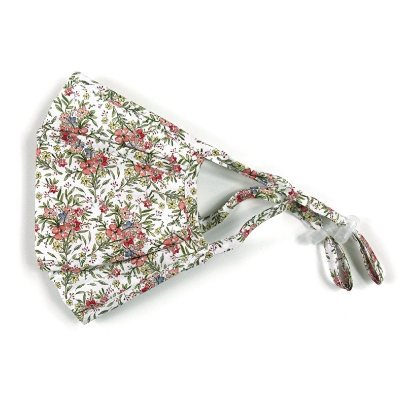 Cotton, 3-D, Red Floral on White - MasKeith