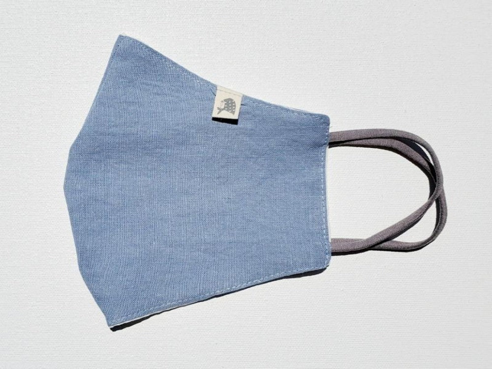 Linen, Solid Soft Blue - MasKeith