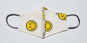 Linen, Smiley on White - MasKeith