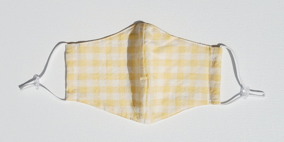 Cotton, Plaid, Soft Yellow - MasKeith