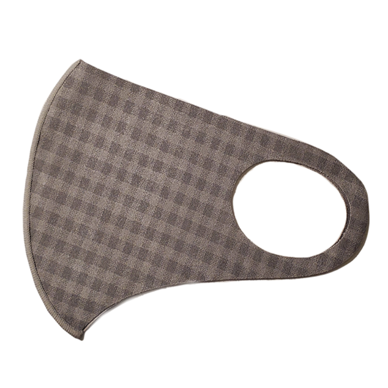 Microfiber, Light Gray, Grid - MasKeith