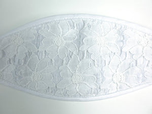 3-D, White Floral Lace on White - MasKeith