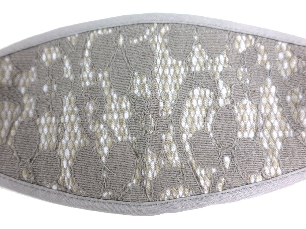 3-D, Gray Floral Lace on Checker - MasKeith