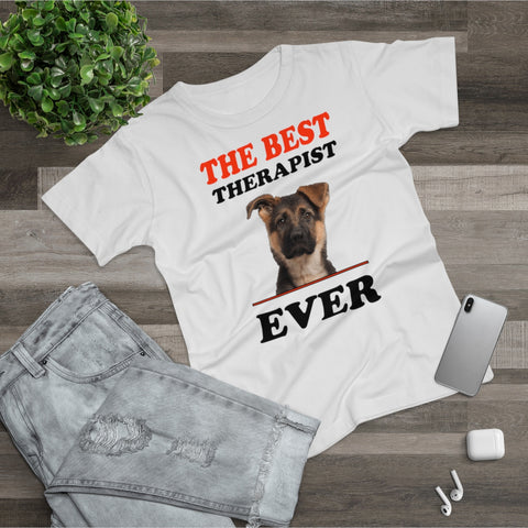 Best Therapist Ever Dog Lover Single Jersey Women's T-shirt - Xshirt Your Motivation