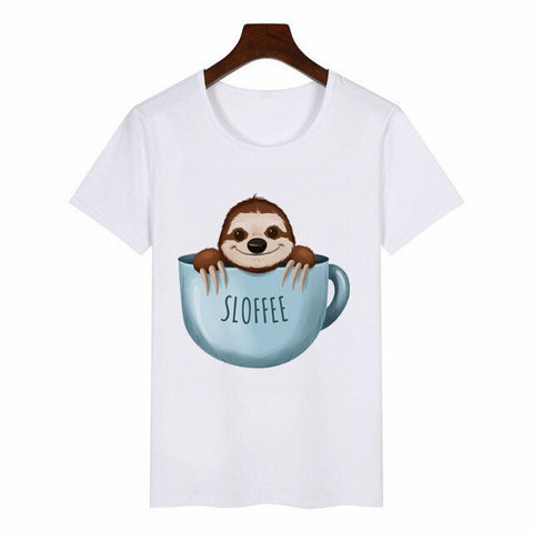 Funny Sloth Sloffee Women Tee - Xshirt Your Motivation