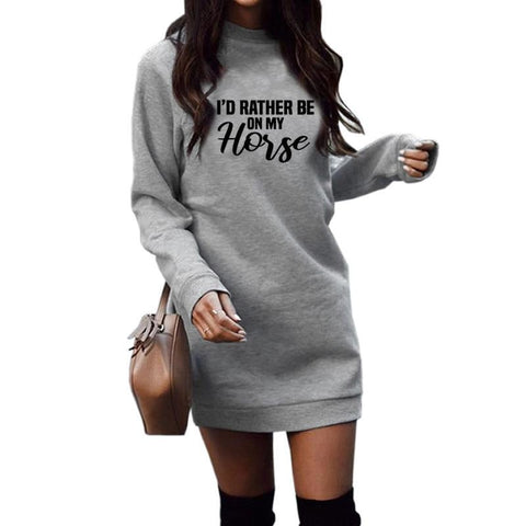 Crazy Horse Lover Long Hoodies For Women - Xshirt Your Motivation
