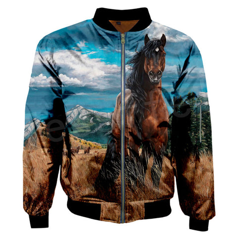 Unisex Animal Love Horse Stronger Horse Tracksuit Men/Women 3DPrint Jacket