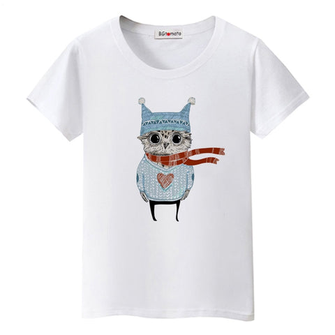 Winter Lovely Owl T-shirt