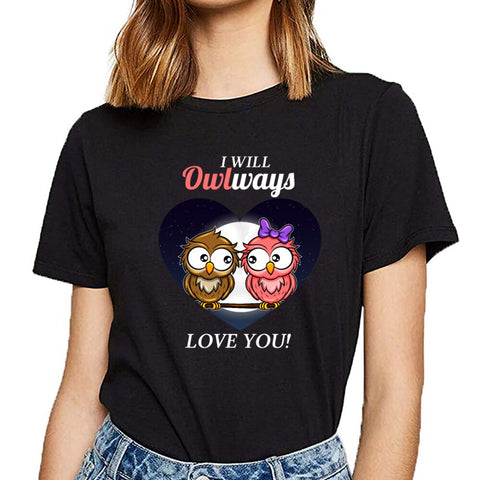 I Will Always Love You Valentine Cute Couple Owl T-shirt - Xshirt Your Motivation