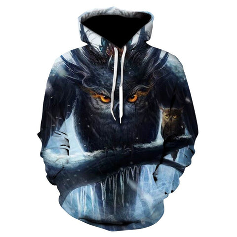 Monster Animal Owl Hoodies