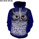 3D Printed Blue Owl Hoodies - Xshirt Your Motivation