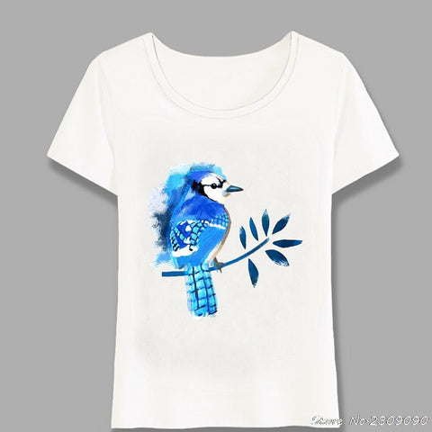 Blue Bird Art Summer T-Shirt - Xshirt Your Motivation
