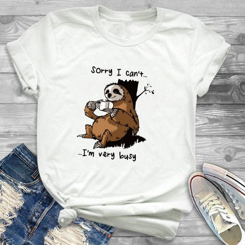 Sloth Need Lots of Coffee Funny T-shirt