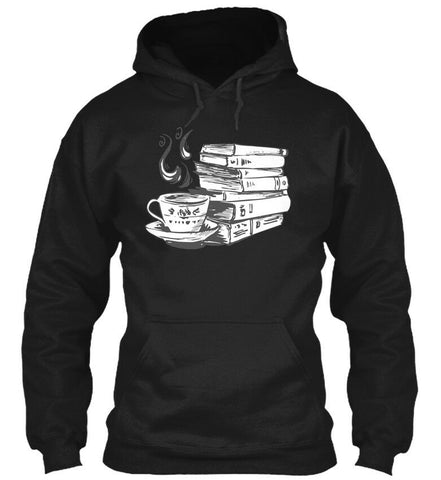 Books Coffee Funny Graphic Hoodie Sweatshirt - Xshirt Your Motivation