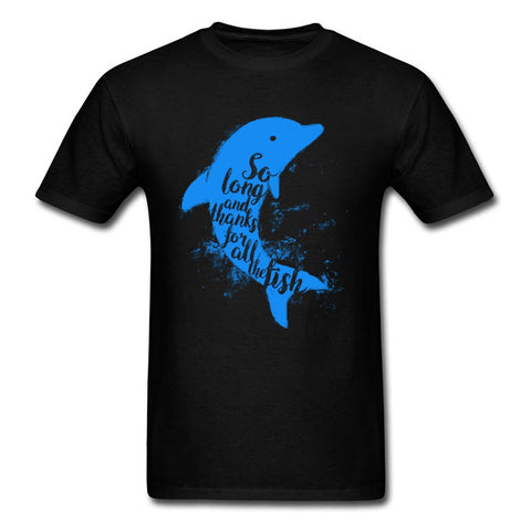 Blue Thankful Dolphins T Shirts - Xshirt Your Motivation
