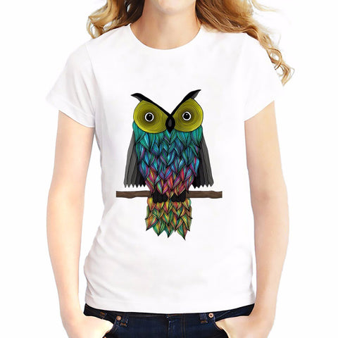 Girls Owl Casual T-Shirt t - Xshirt Your Motivation