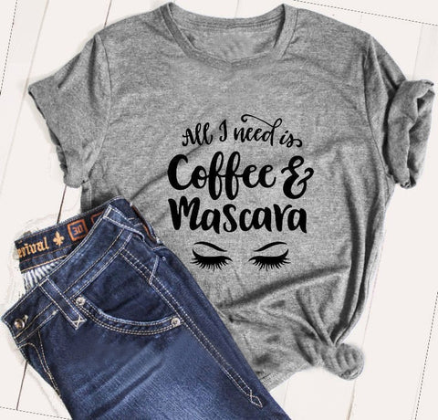 Coffee & Mascara Lashes Shirt - Xshirt Your Motivation