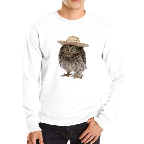 Cool Owl Hoodies Owl Wearing a Hat - Xshirt Your Motivation