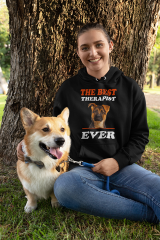 Best Therapist Ever Dog Lover Girlie College Hoodie - Xshirt Your Motivation