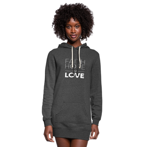 Faith Hope And Love Women's Hoodie Dress - heather black