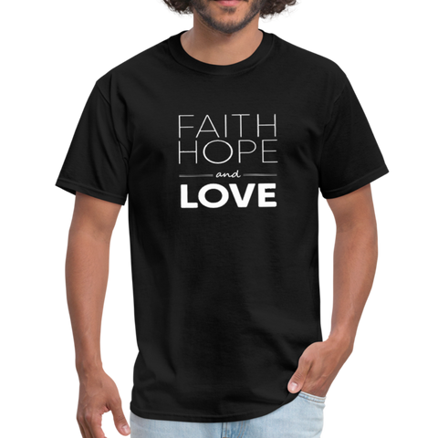 Faith Hope and Love Men's T-Shirt - black