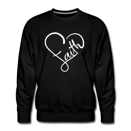 Heart of Faith Men's Premium Sweatshirt - black