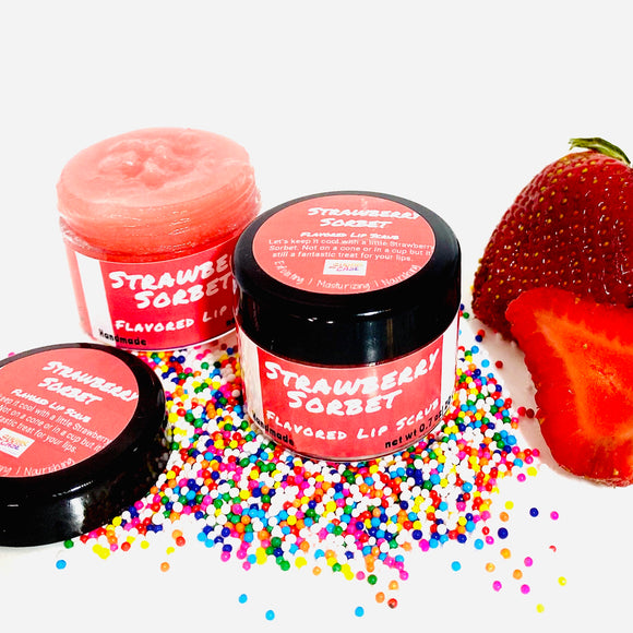 Strawberry Sorbet Flavored Lip Scrub