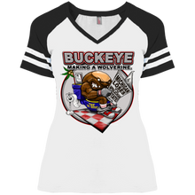 Load image into Gallery viewer, Toilet nut DM476 Ladies' Game V-Neck T-Shirt