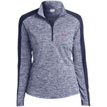 Load image into Gallery viewer, Fire Wife LST397 Ladies' Electric Heather Colorblock 1/4-Zip Pullover