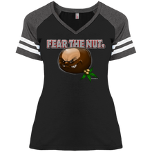 Load image into Gallery viewer, Fear The Nut DM476 Ladies' Game V-Neck T-Shirt
