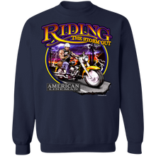 Load image into Gallery viewer, Lineman Biker G180 Crewneck Pullover Sweatshirt  8 oz.