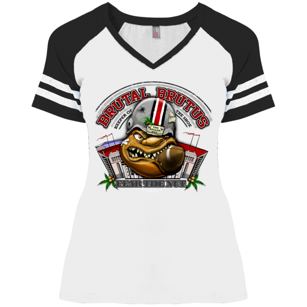 Brutat Brutus DM476 Ladies' Game V-Neck T-Shirt