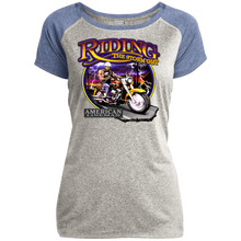 Load image into Gallery viewer, Lineman Biker LST362 Ladies Heather on Heather Performance T-Shirt