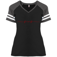 Load image into Gallery viewer, Fire Wife DM476 Ladies' Game V-Neck T-Shirt