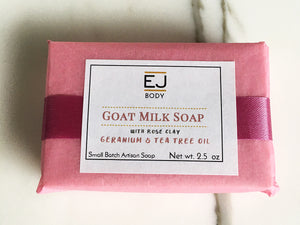 EJ: Goat Milk & Rose Kaolin Clay
