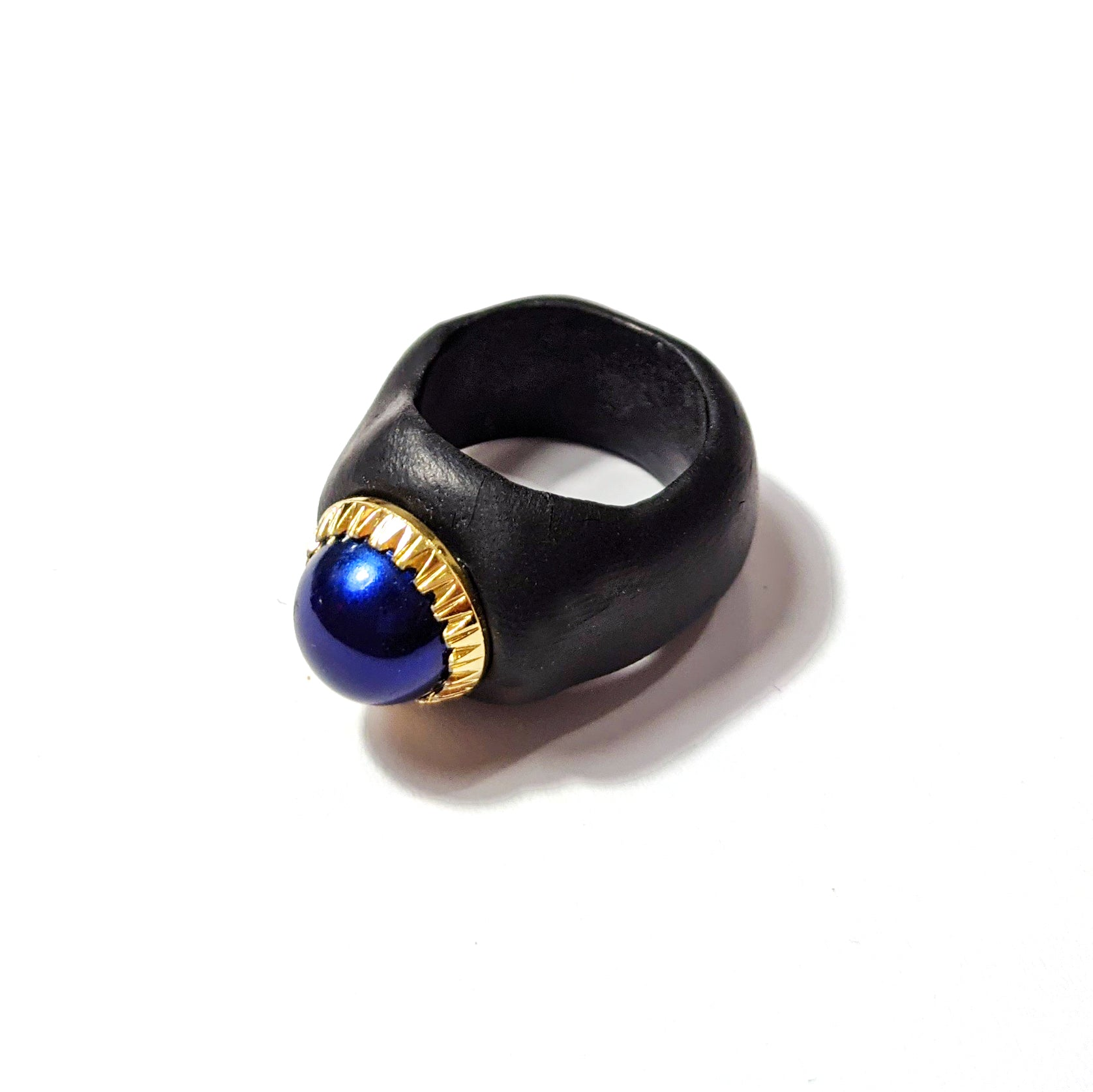 anello a fascia dal design contemporaneo blue nero