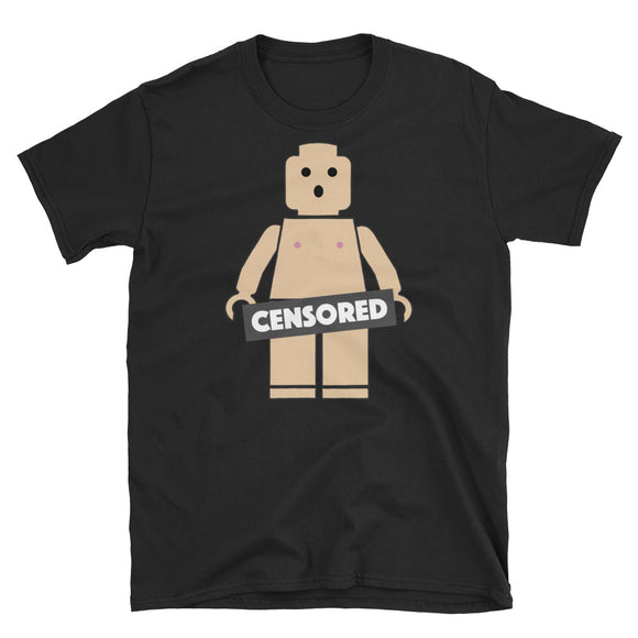 Censored Naked Block Man