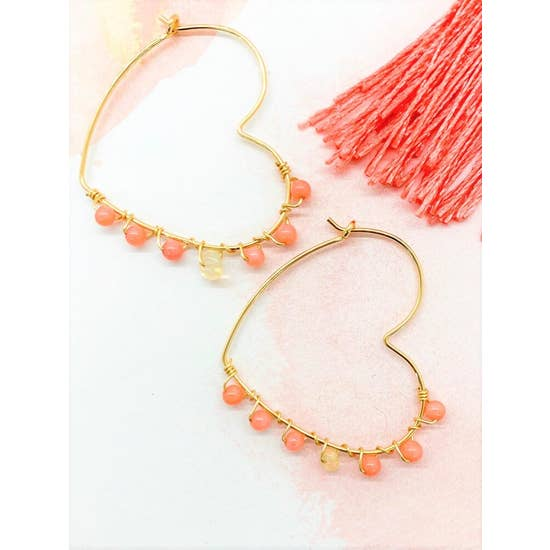 Heart Wrapped Hoops