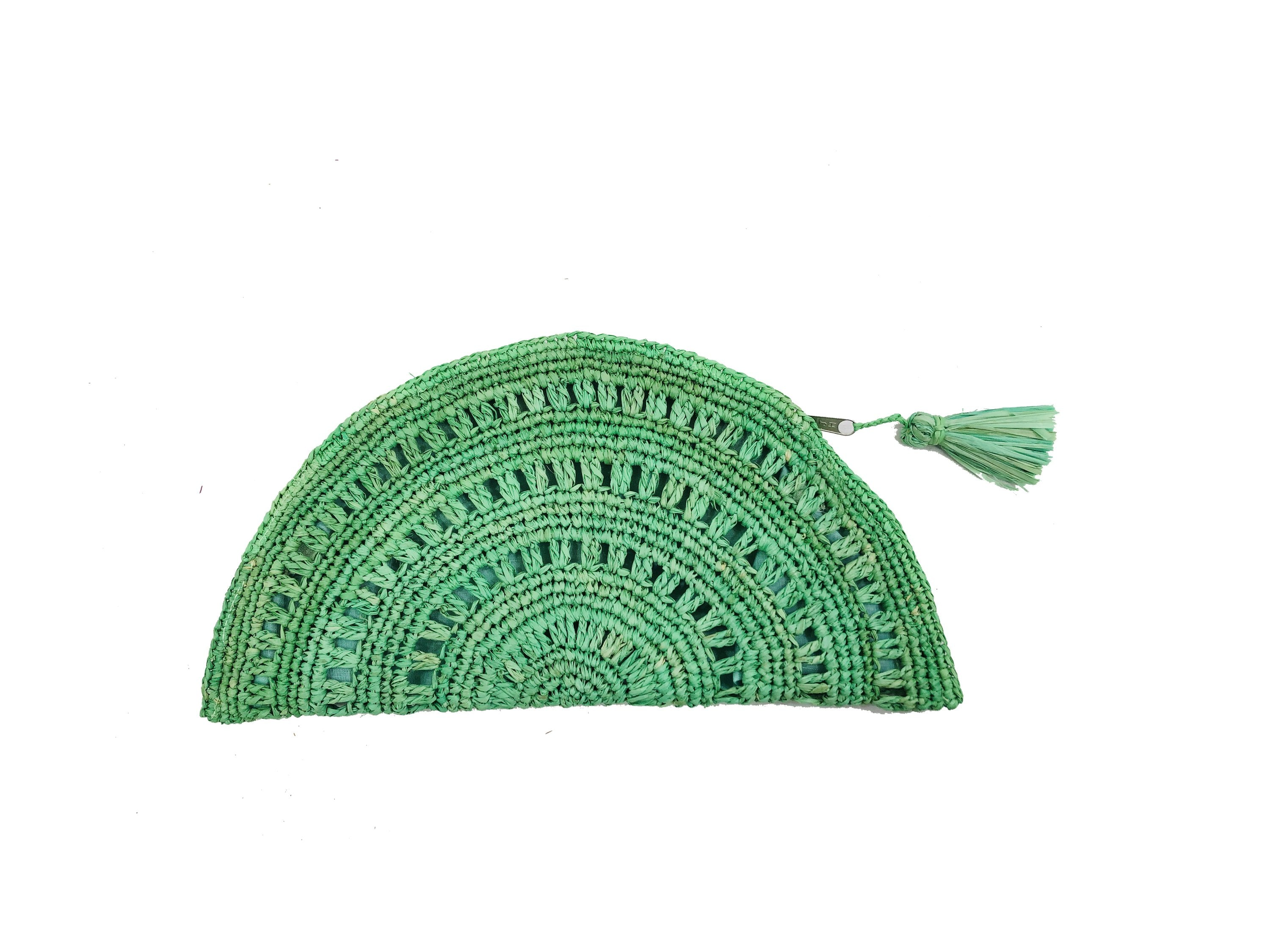 Half Moon Clutch Mint