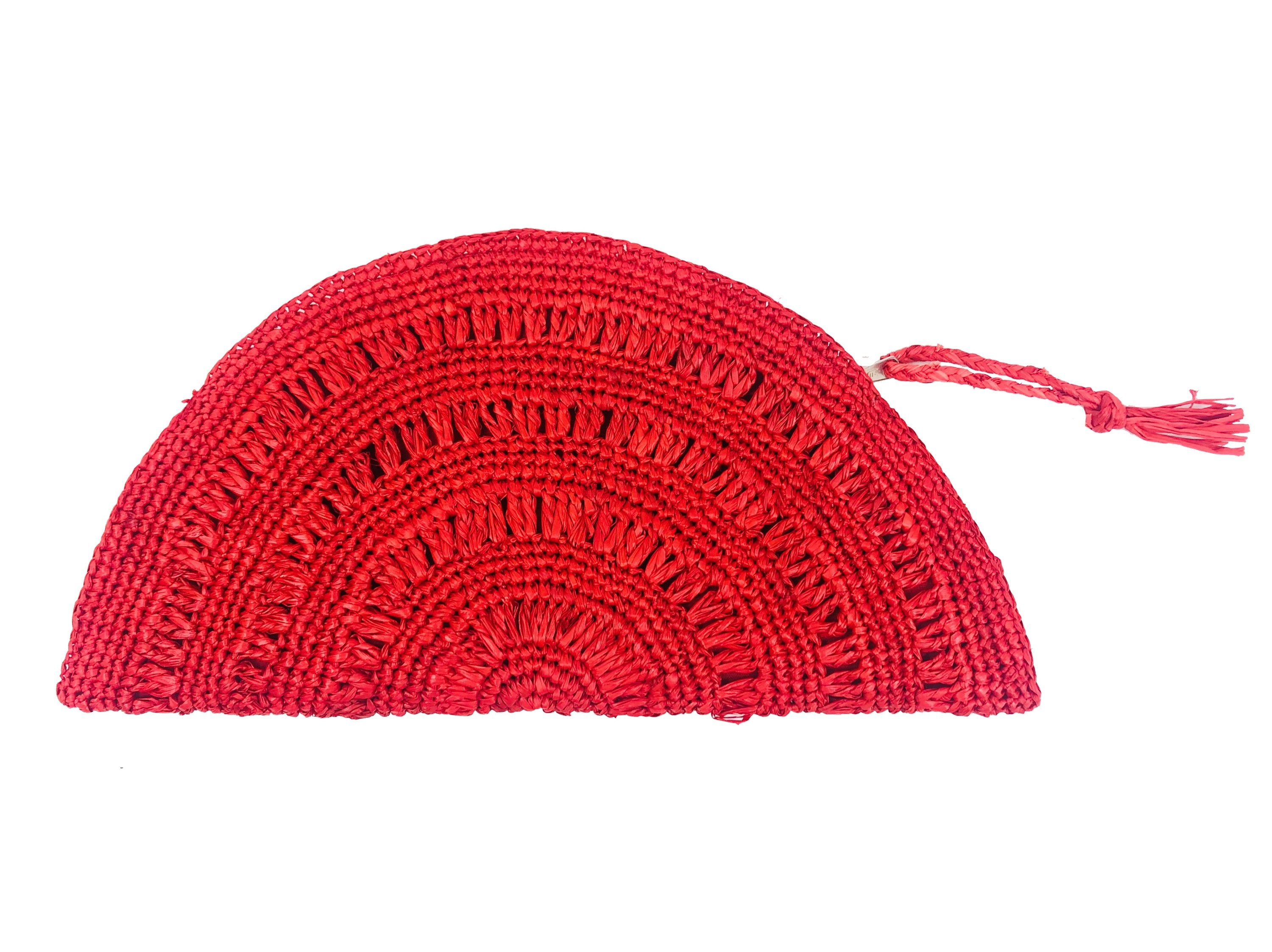 Half Moon Clutch Red