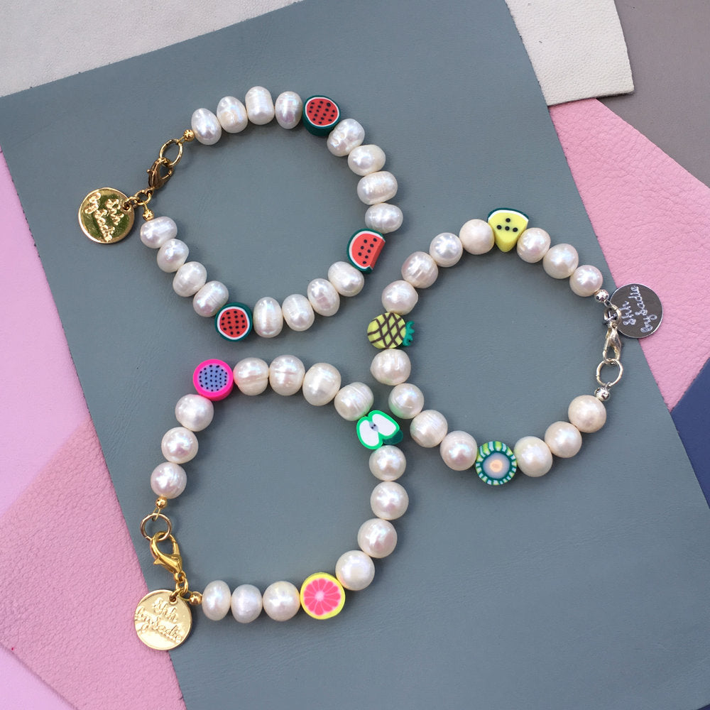 Pearl Fruit Bracelet - pick your own!